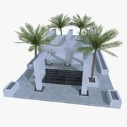 Modernt poolområde 3d model