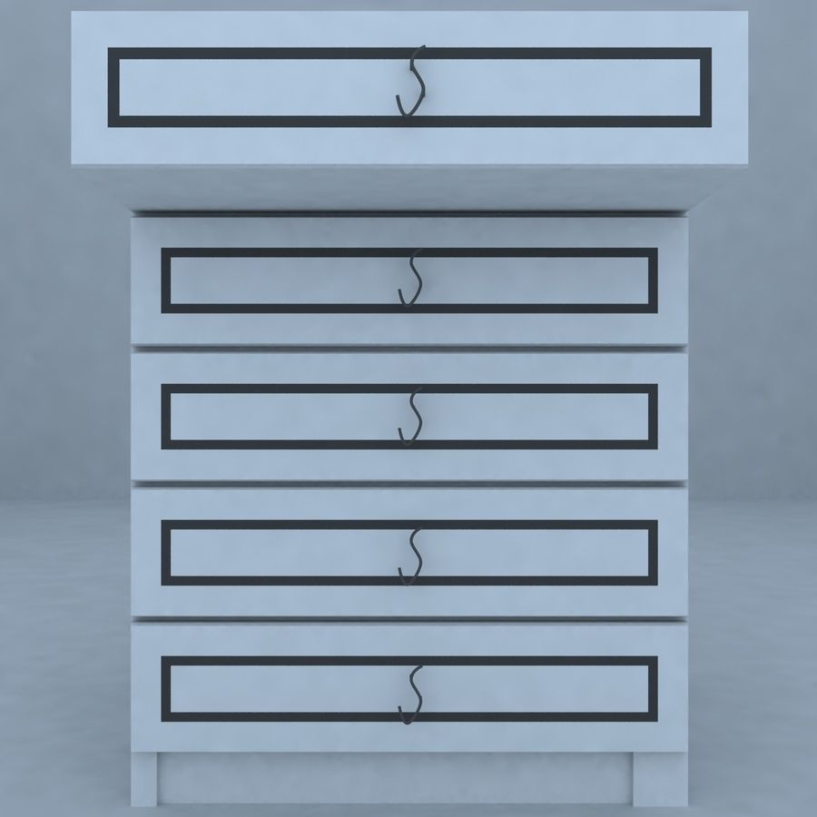 cabinet 3 royalty-free 3d model - Preview no. 4