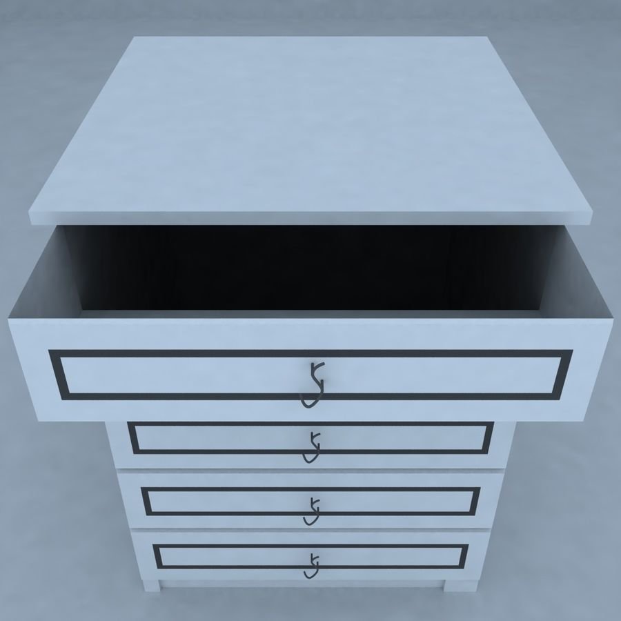 cabinet 3 royalty-free 3d model - Preview no. 3