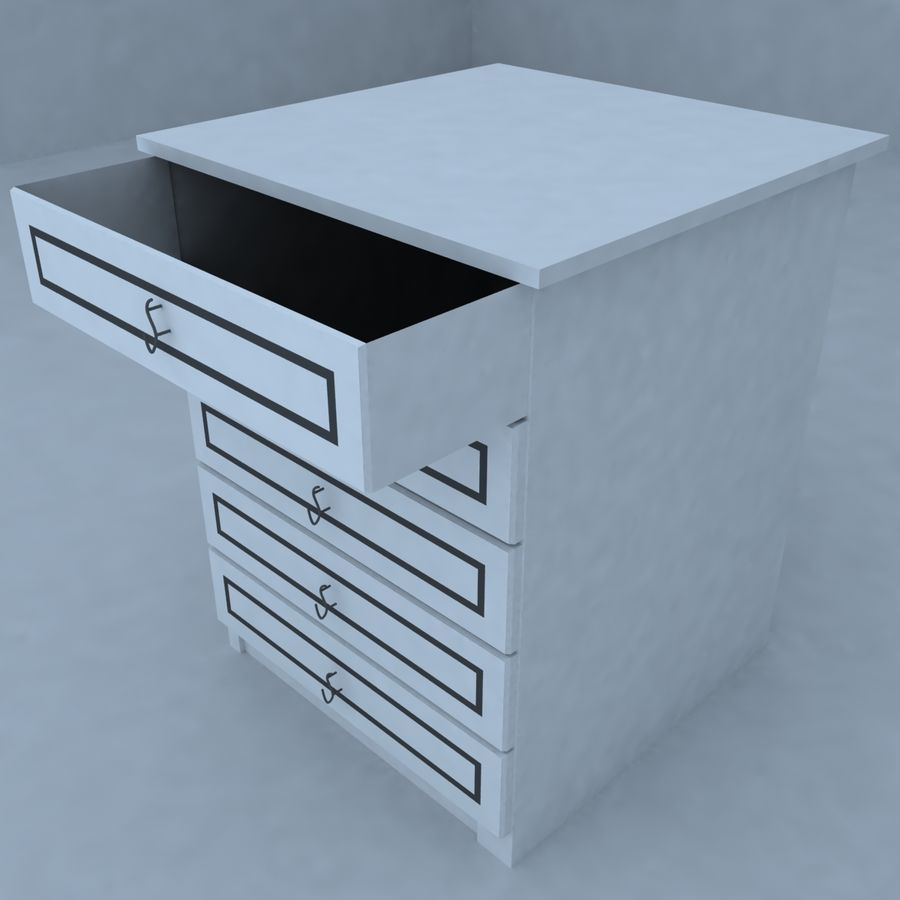 cabinet 3 royalty-free 3d model - Preview no. 1
