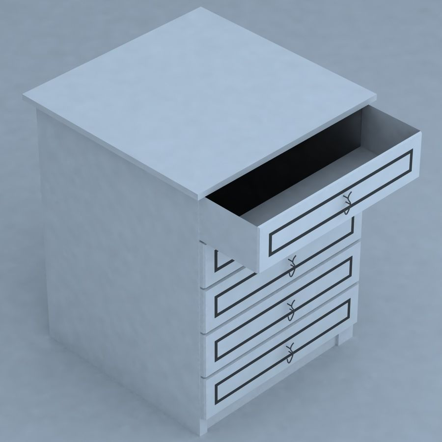 cabinet 3 royalty-free 3d model - Preview no. 2