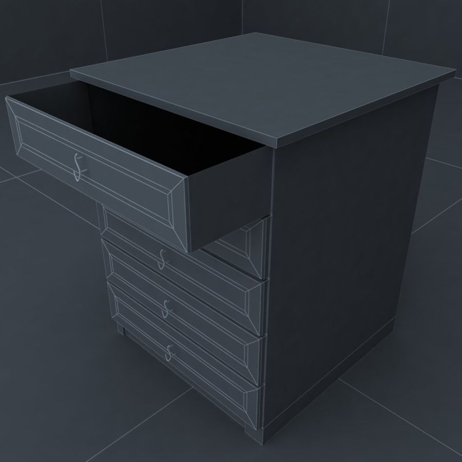 cabinet 3 royalty-free 3d model - Preview no. 5