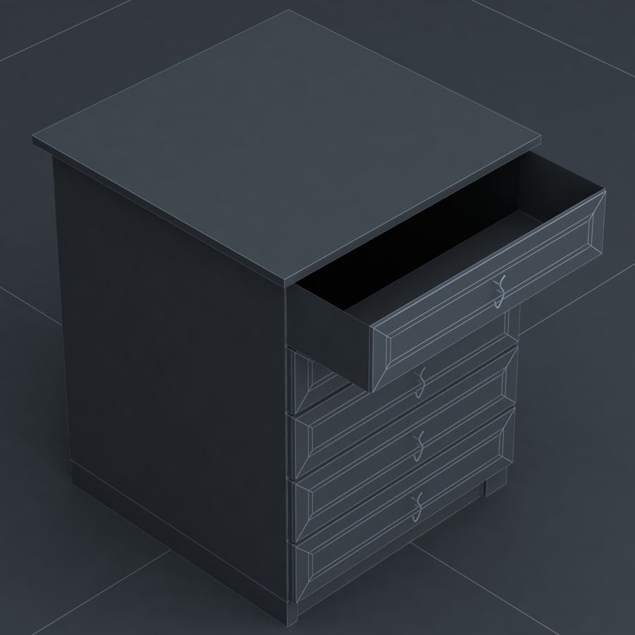 cabinet 3 royalty-free 3d model - Preview no. 6