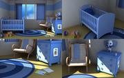 Baby nursery v2 3d model