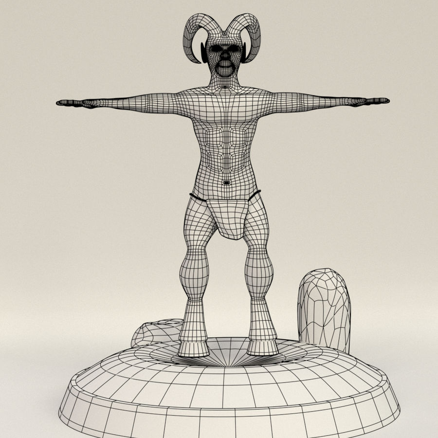 Demon Ifrit royalty-free 3d model - Preview no. 5
