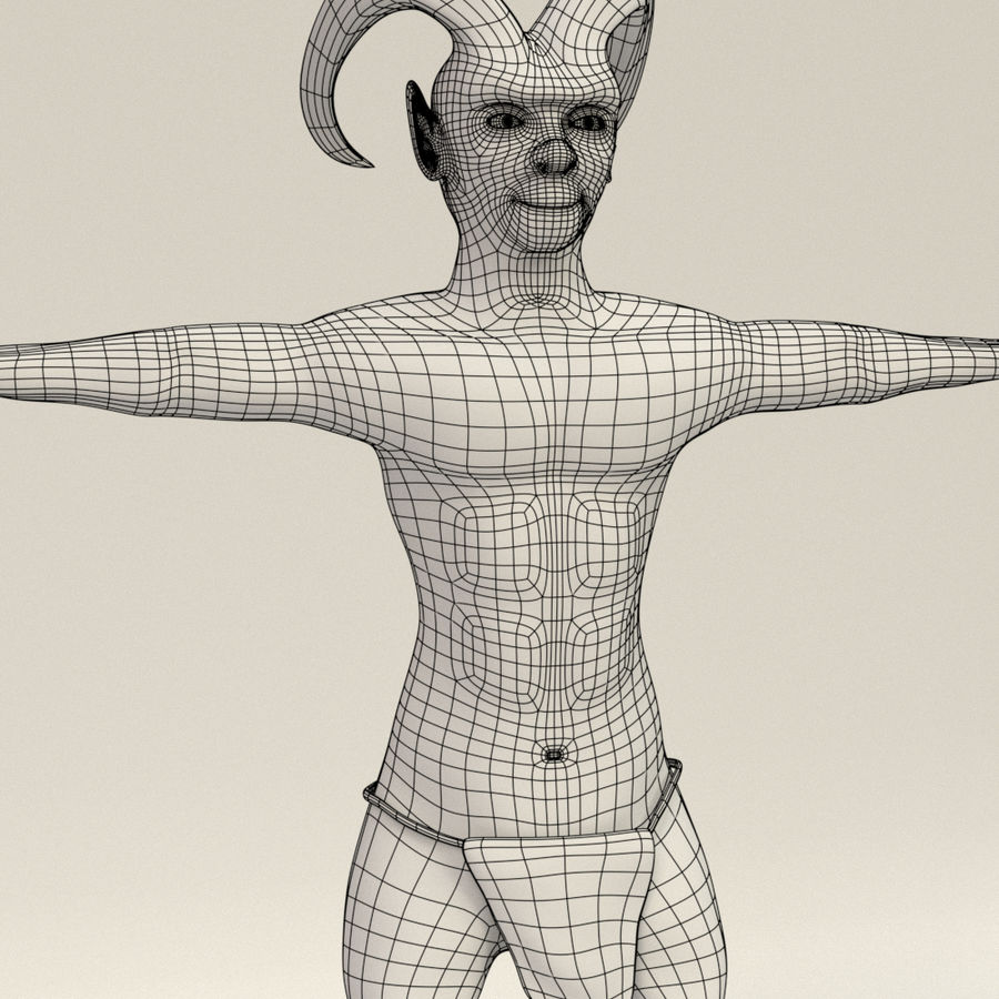 Demon Ifrit royalty-free 3d model - Preview no. 3