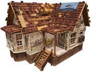 Maison abandonnée (prête pour le jeu) 3d model