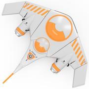 Kayak espacial modelo 3d