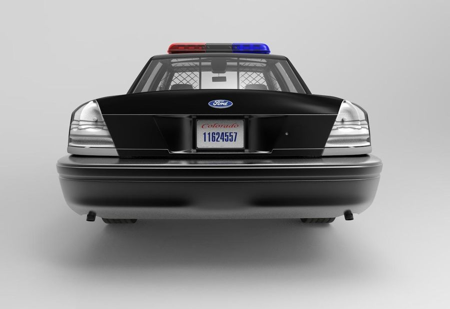 Полицейская машина royalty-free 3d model - Preview no. 2