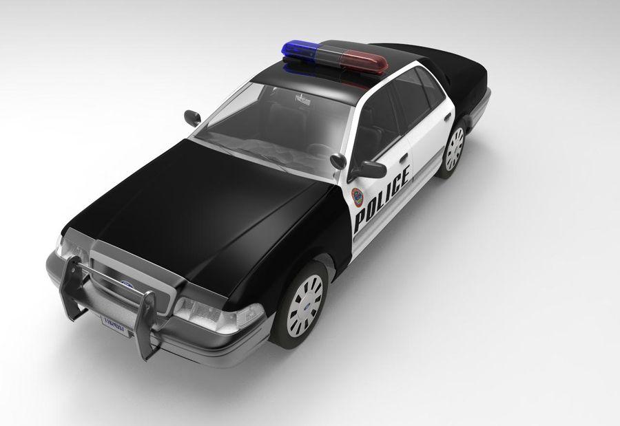 Полицейская машина royalty-free 3d model - Preview no. 6