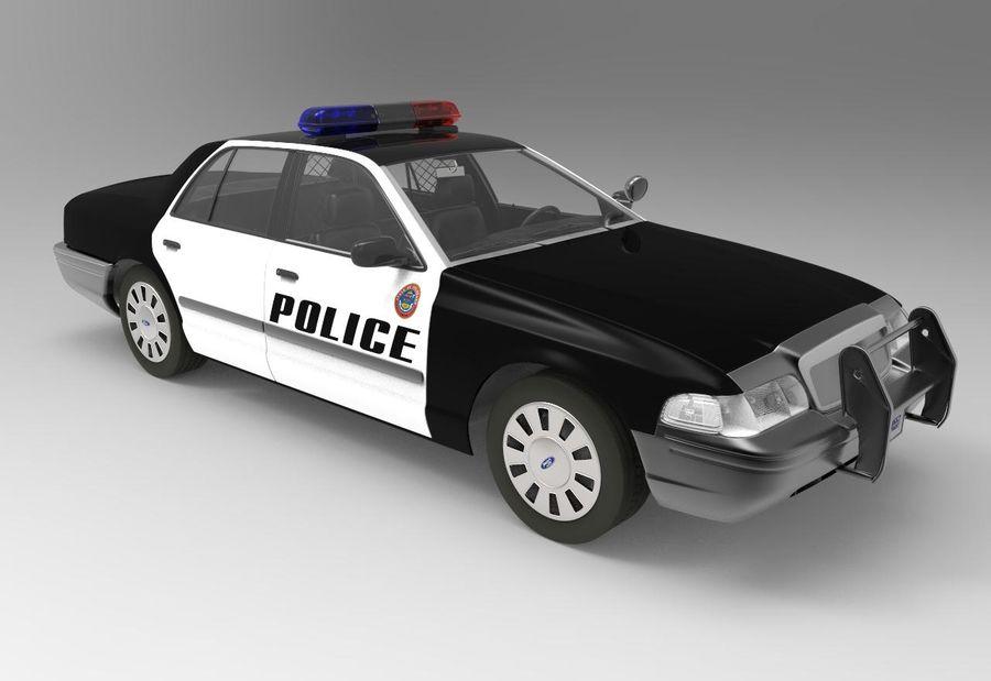 Полицейская машина royalty-free 3d model - Preview no. 1