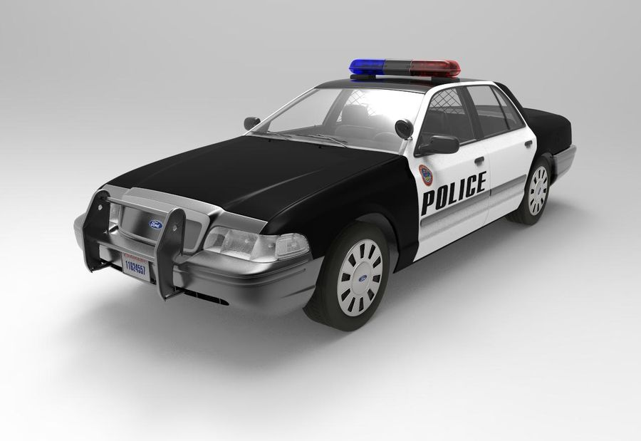 Полицейская машина royalty-free 3d model - Preview no. 4