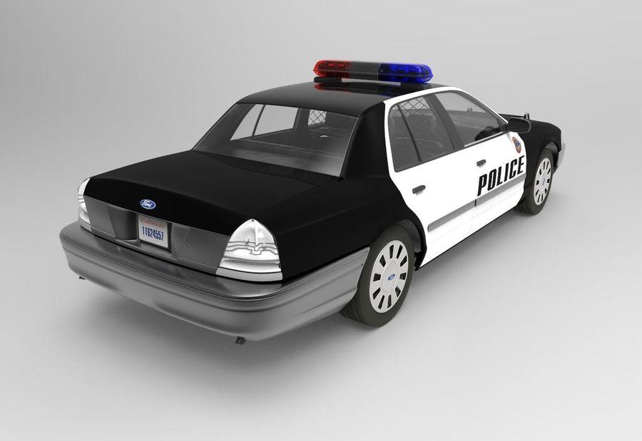 Полицейская машина royalty-free 3d model - Preview no. 3