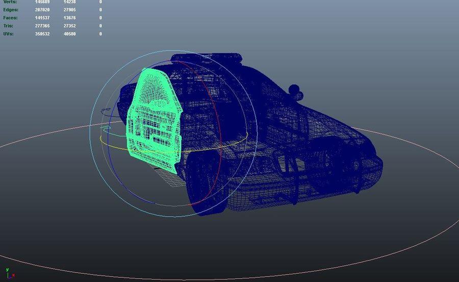 Полицейская машина royalty-free 3d model - Preview no. 8
