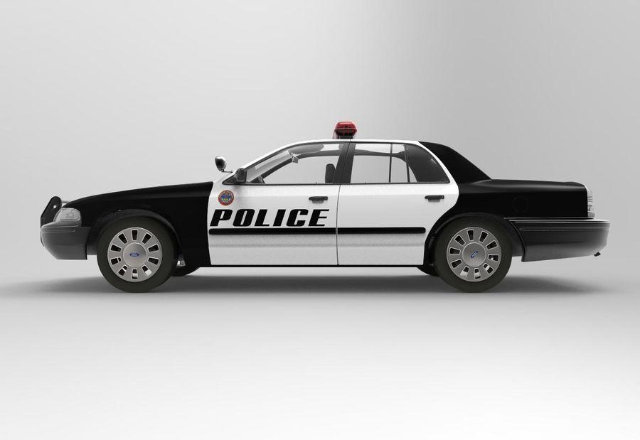 Полицейская машина royalty-free 3d model - Preview no. 5