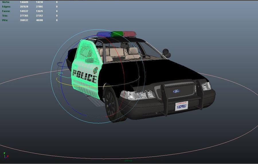 Полицейская машина royalty-free 3d model - Preview no. 7