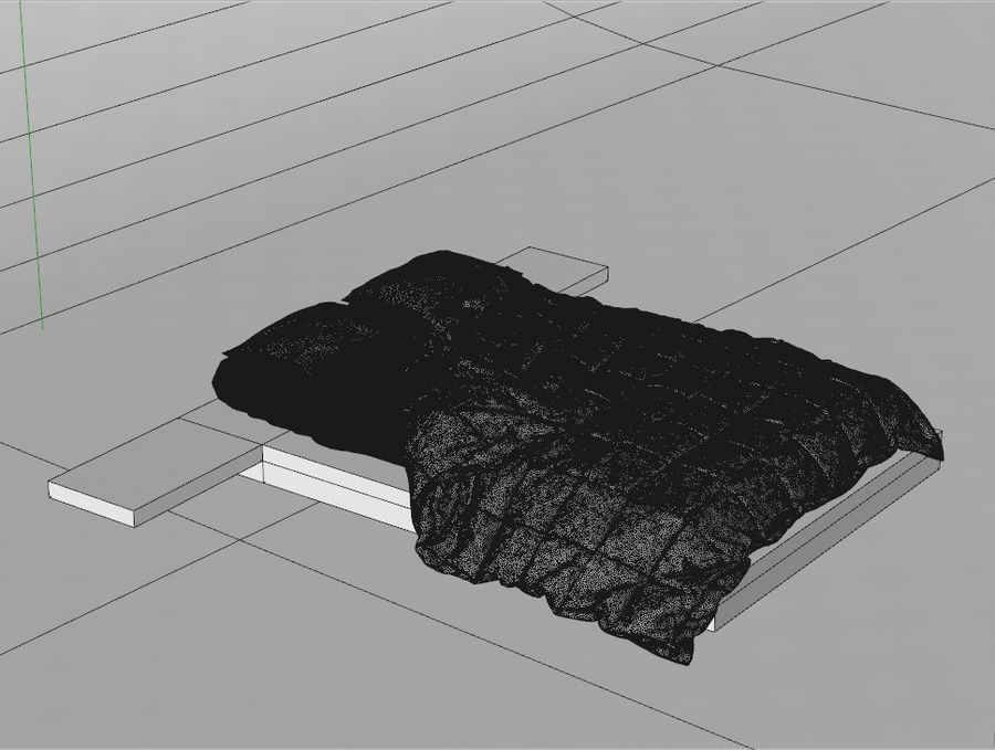 HQ Bed royalty-free 3d model - Preview no. 3