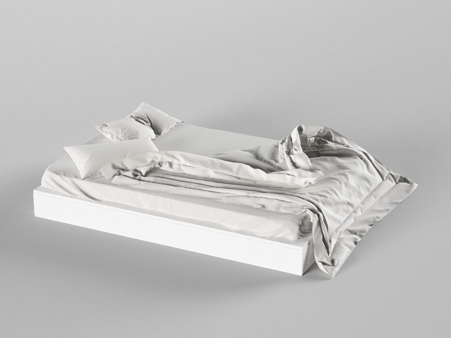 High res Bed royalty-free 3d model - Preview no. 2