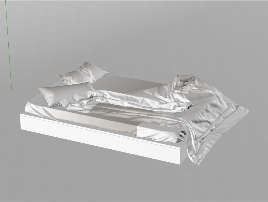 High res Bed royalty-free 3d model - Preview no. 4