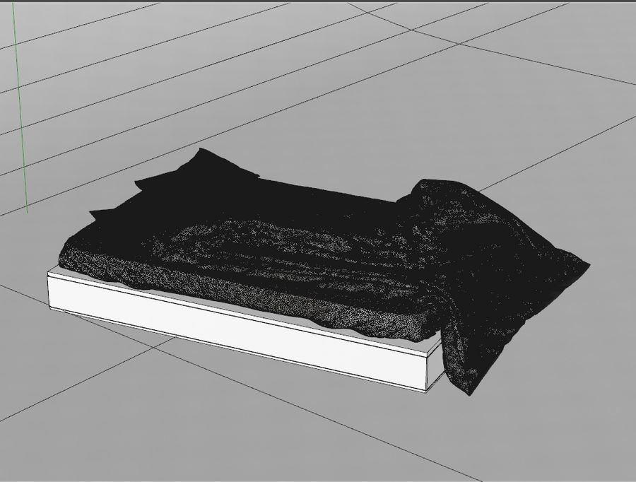 High res Bed royalty-free 3d model - Preview no. 3