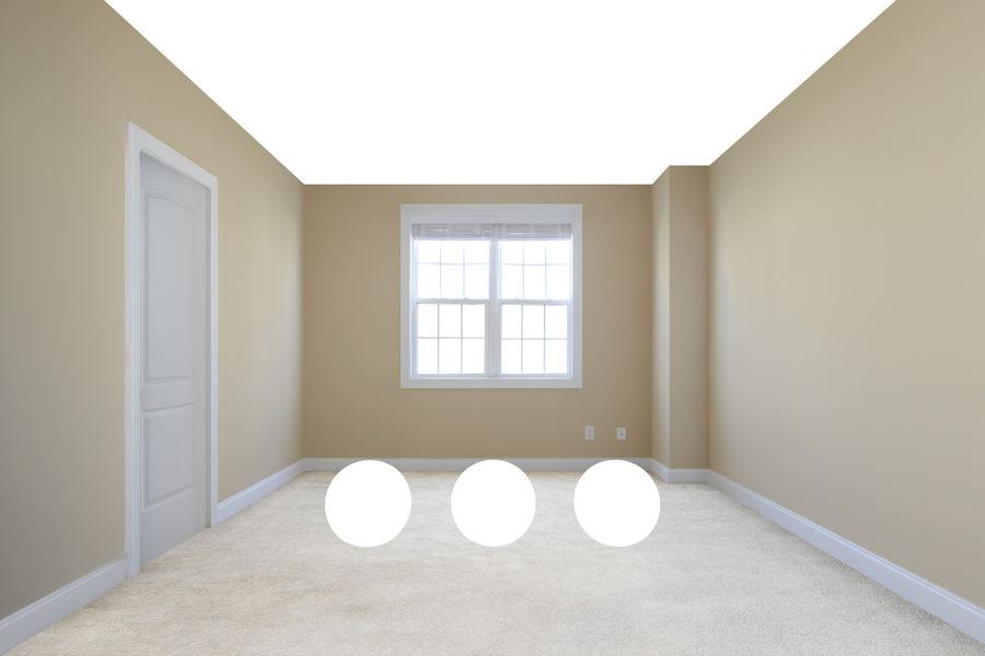 寝室のシーン royalty-free 3d model - Preview no. 2