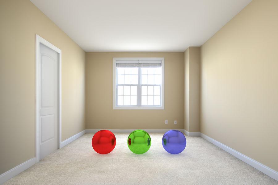 寝室のシーン royalty-free 3d model - Preview no. 1