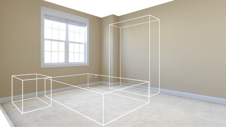 寝室のシーン royalty-free 3d model - Preview no. 5