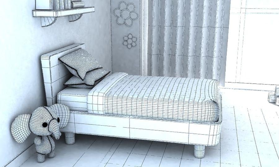 Çizgi Film Kız Odası v2 royalty-free 3d model - Preview no. 7