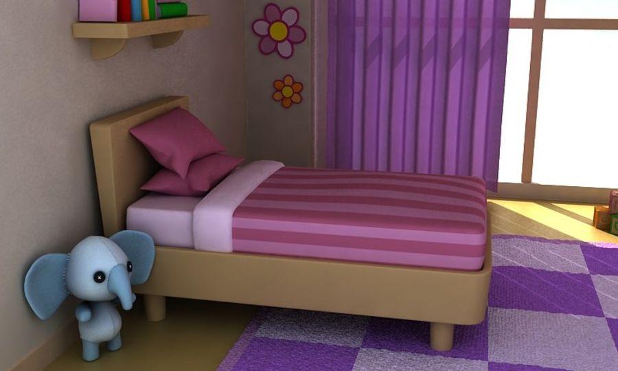 Çizgi Film Kız Odası v2 royalty-free 3d model - Preview no. 6