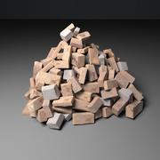 Brick pile 3d model