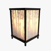 Lámpara de mesa (acento de bambú con acento de litofano - Modelo 015) modelo 3d