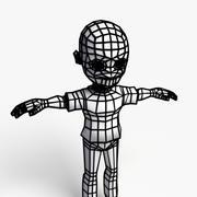 Zumbi dos desenhos animados 3d model