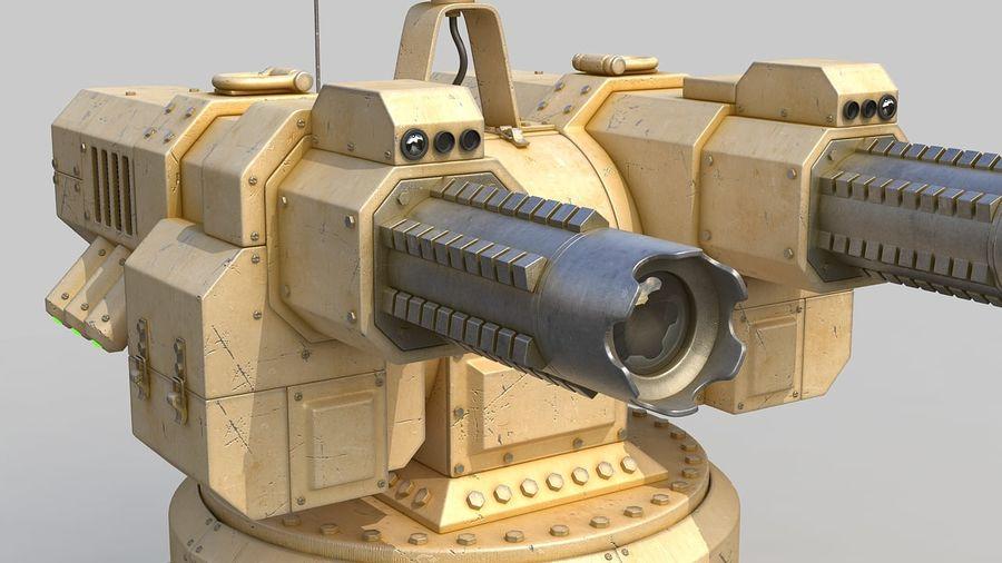 Torreta a laser automática royalty-free 3d model - Preview no. 6