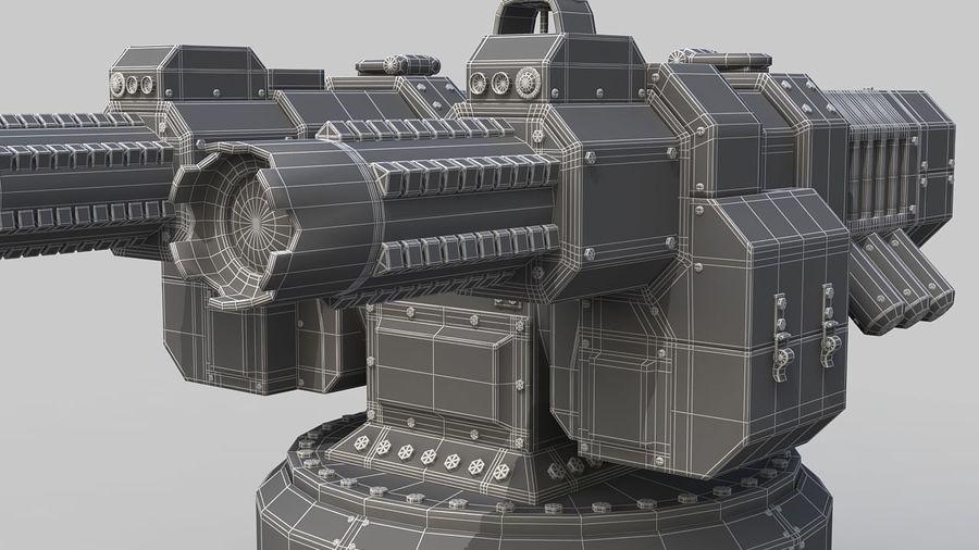 Torreta a laser automática royalty-free 3d model - Preview no. 12