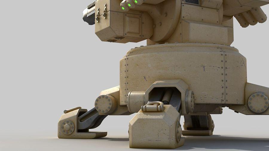 Torreta a laser automática royalty-free 3d model - Preview no. 11