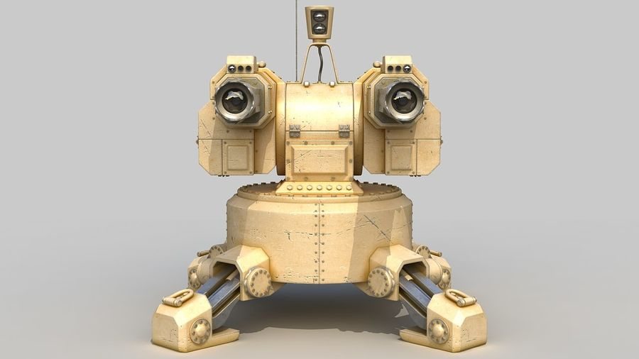 Torreta a laser automática royalty-free 3d model - Preview no. 8