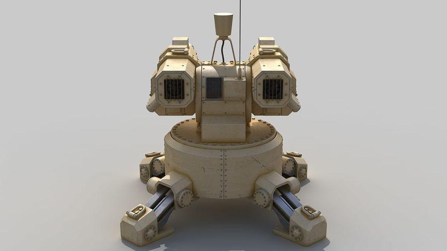 Torreta a laser automática royalty-free 3d model - Preview no. 4