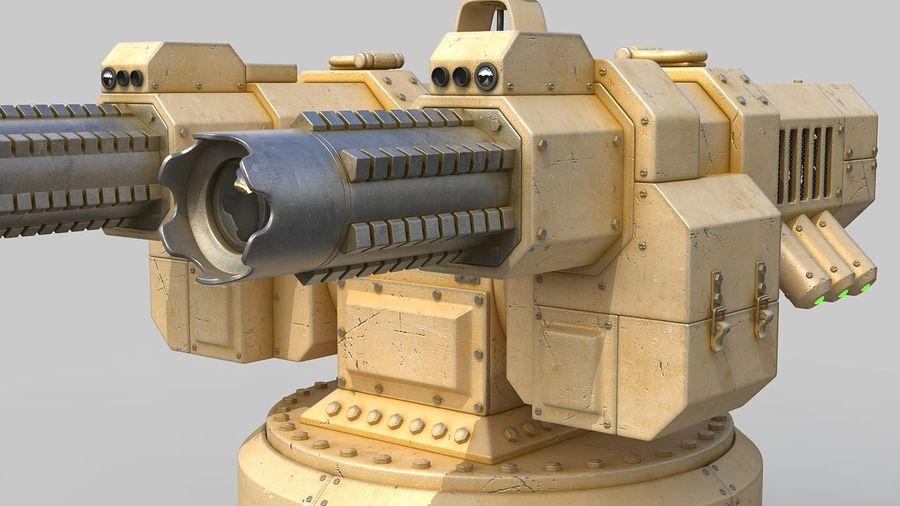 Torreta a laser automática royalty-free 3d model - Preview no. 9