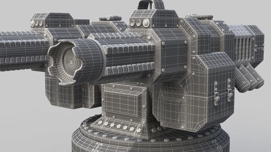 Torreta a laser automática royalty-free 3d model - Preview no. 13