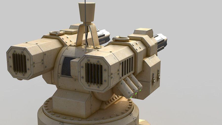 Torreta a laser automática royalty-free 3d model - Preview no. 5