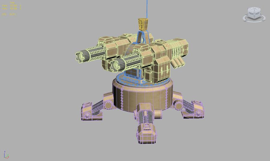 Torreta a laser automática royalty-free 3d model - Preview no. 15
