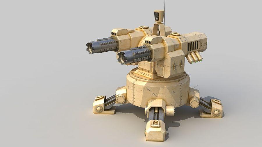 Torreta a laser automática royalty-free 3d model - Preview no. 1