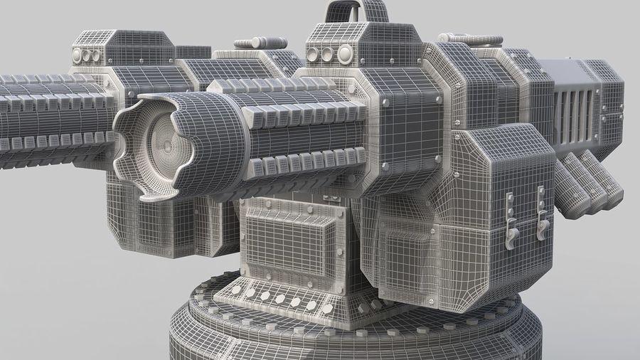 Torreta a laser automática royalty-free 3d model - Preview no. 14
