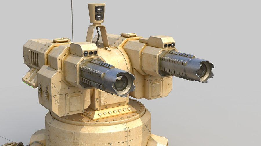 Torreta a laser automática royalty-free 3d model - Preview no. 7