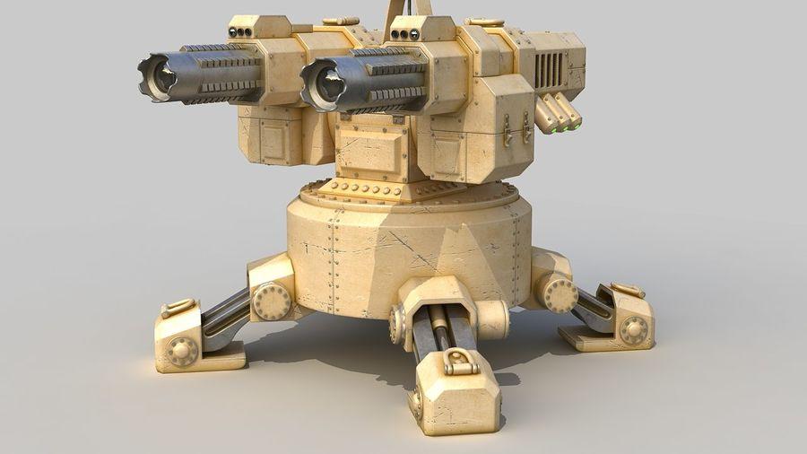Torreta a laser automática royalty-free 3d model - Preview no. 10