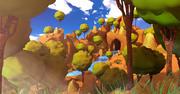 Kreskówka krajobraz kraju 3d model