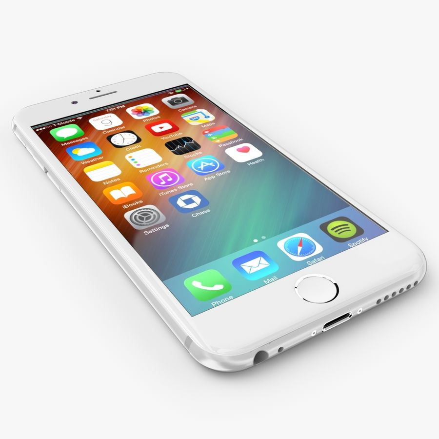 Apple iPhone 6S royalty-free modelo 3d - Preview no. 1