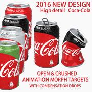 Coca Cola kann mit Morph-Zielen zerquetscht / geöffnet werden 3d model