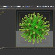 Coronavirus groen 3d model