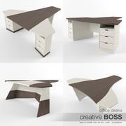 Office Desks Creative Boss (pack) 3d model